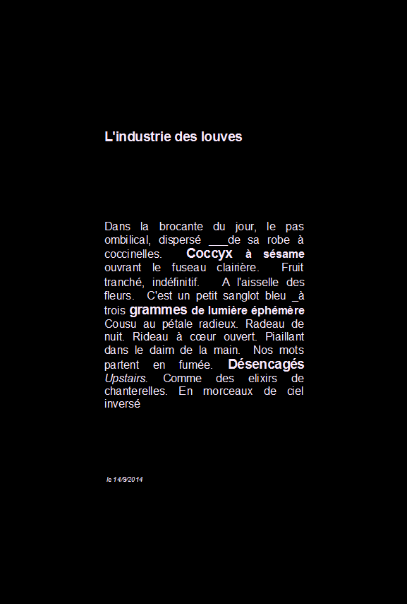 L'industrie des louves