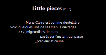 little pieces, intro5